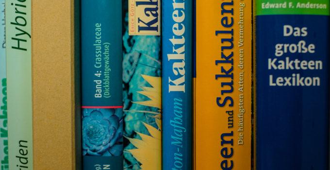 Bücher über Kakteen und andere Sukkulenten